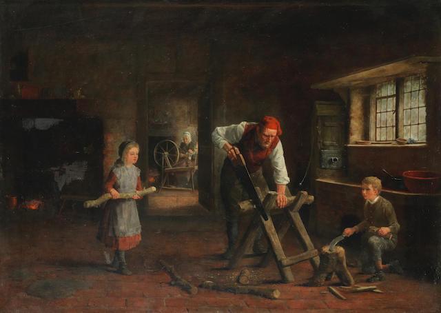Frederick Daniel Hardy (British, 1826-1911) Winter fuel