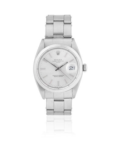 Rolex. A stainless steel automatic calendar bracelet watch  Date, Ref: 1500, Sold 13th November 1966