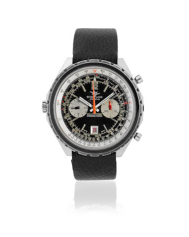 Breitling. A stainless steel automatic calendar chronograph wristwatch Navitimer Chrono-matic, Ref: DDE.BR. 11525/67-1806, Sold 27th September 1971