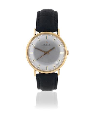 Zenith. An 18k gold automatic calendar wristwatch Circa 1965