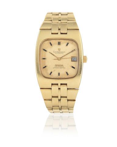 Omega. An 18K gold automatic calendar bracelet watch  Constellation, Ref: 166.059/168.047, Circa 1970