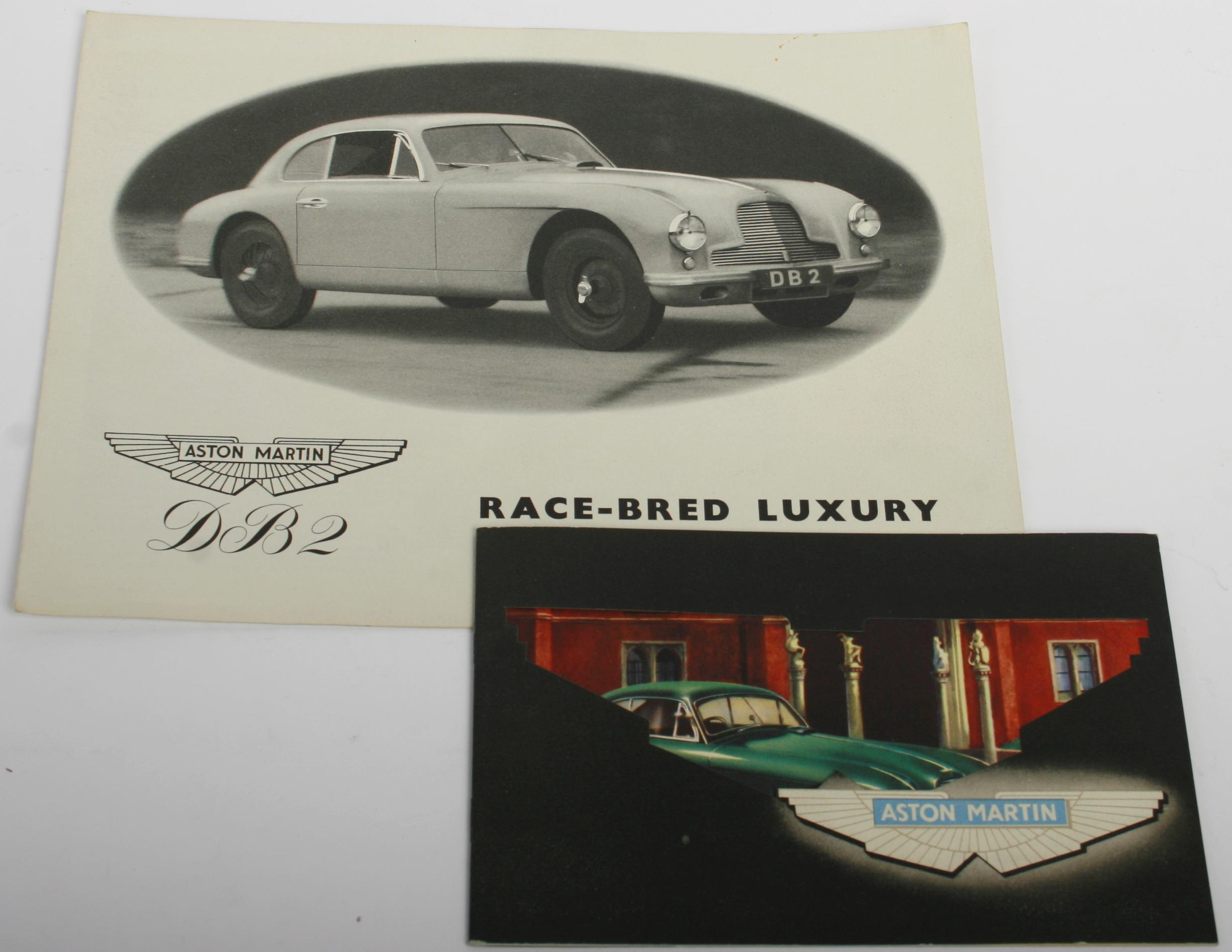 Two Aston Martin DB2 sales publications,