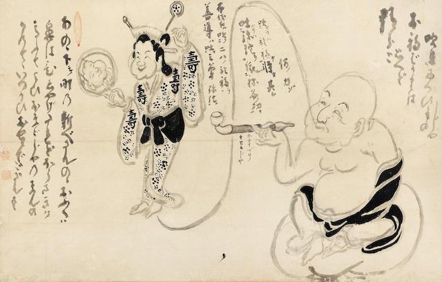 Hakuin Ekaku (1686-1769) Edo period (1615-1868), mid-18th century (3)