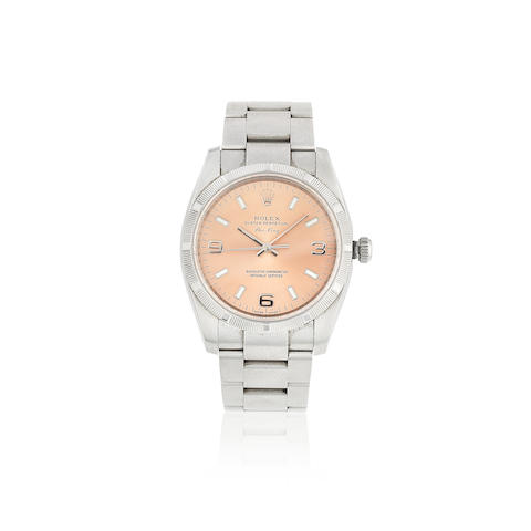 Rolex. A stainless steel automatic bracelet watch  Air-King, Ref: 114210, Sold 15th August 2009