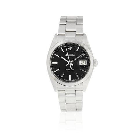 Rolex. A stainless steel manual wind calendar bracelet watch Oysterdate Precision, Ref: 6694, Circa 1978