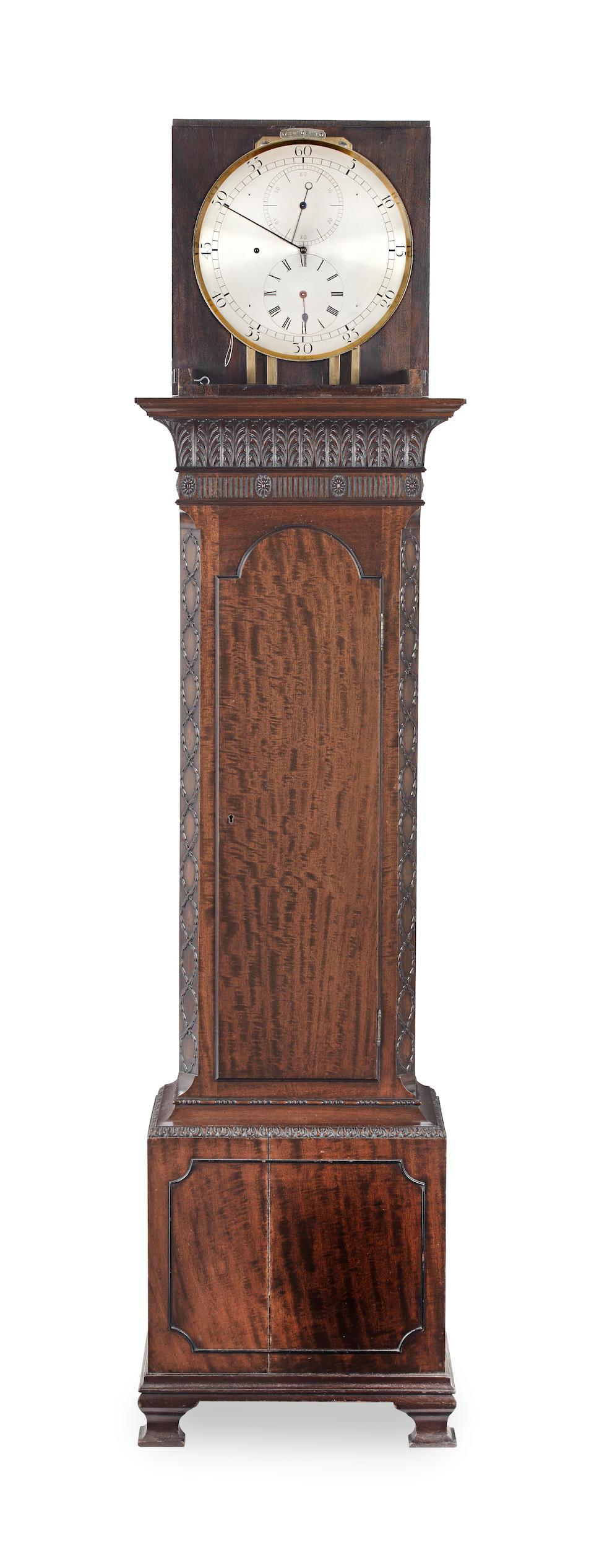 A fine late 19th Century mahogany domestic regulator