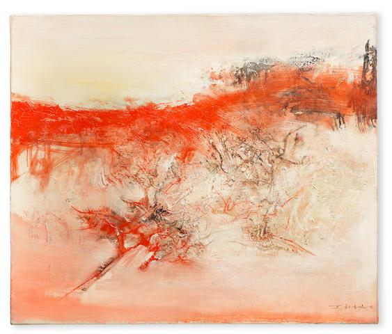 Zao Wou-Ki (Chinese/French, 1921-2013) 23-9-70 1970