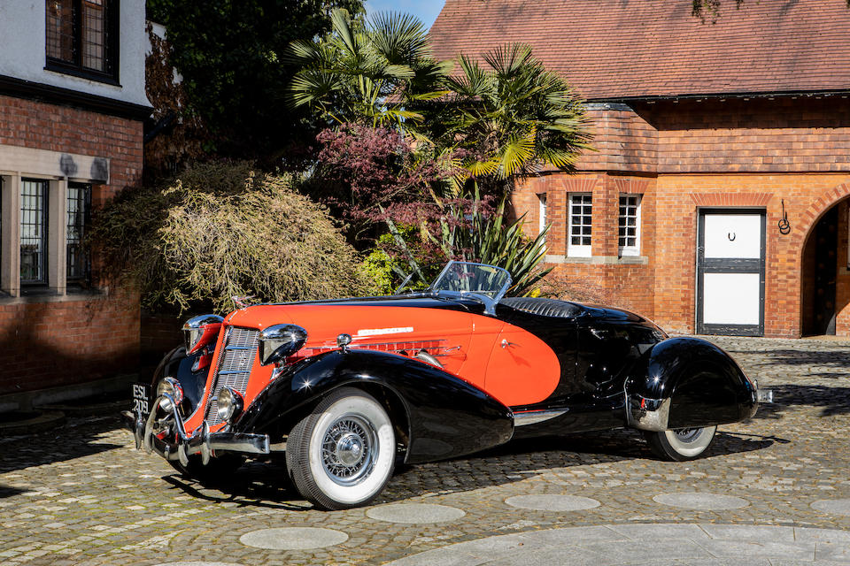 The ex-Barbara Hutton ,1935 Auburn 851 Supercharged Boat-tail Speedster  Chassis no. 33515E