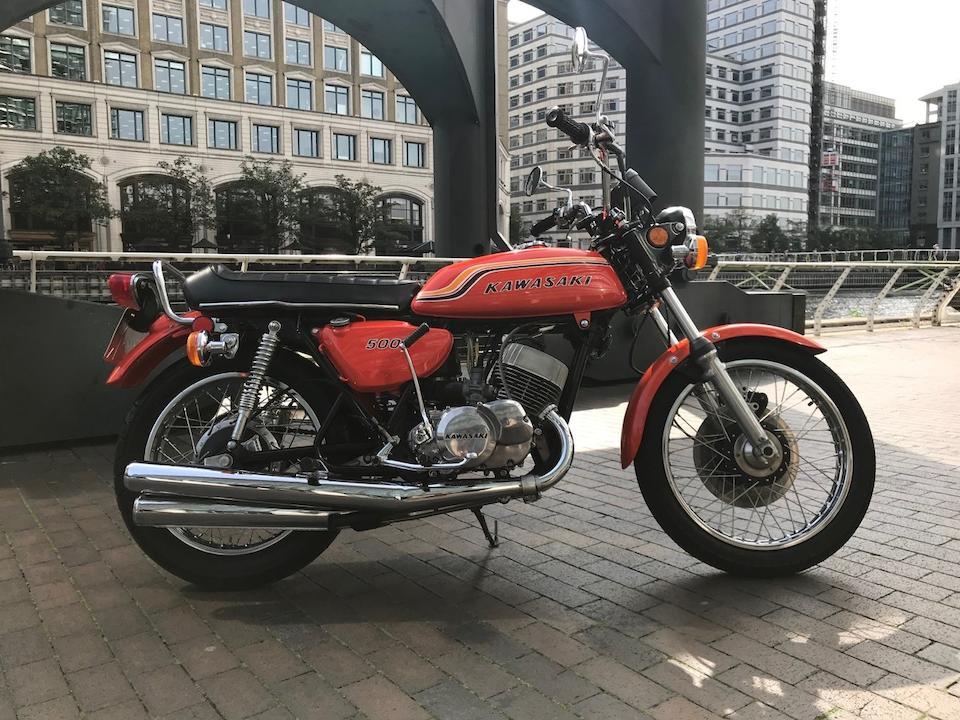 1972 Kawasaki 498cc H1B Frame no. KAF 52807 Engine no. KAE 57138