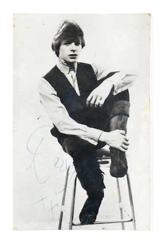 David Bowie: A rare, early signed publicity photograph, 1964,
