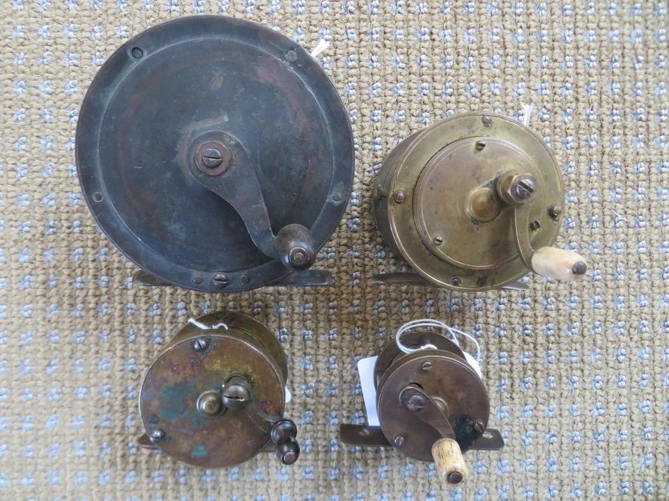 Three brass multiplier reels ((4))