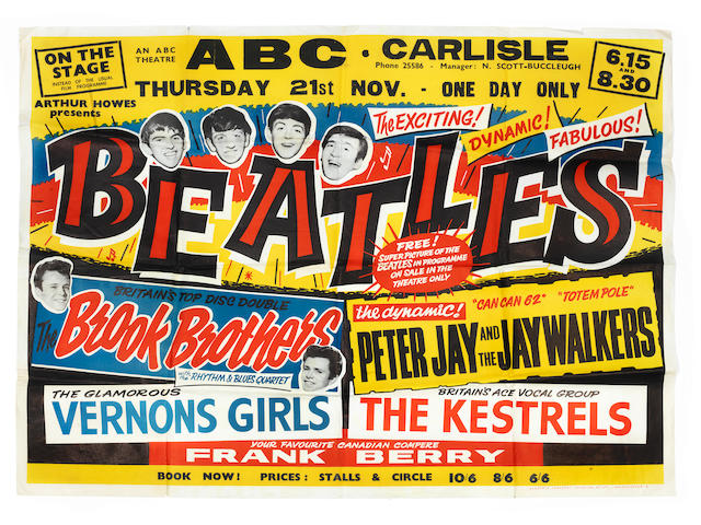 The Beatles: A concert poster,  Thursday, 21st November 1963,