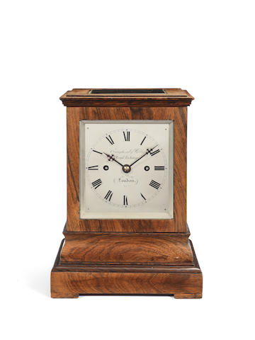 A mid 19th century Rosewood four-glass table clock Craighead & Webb, 1 Royal Exchange, London 2