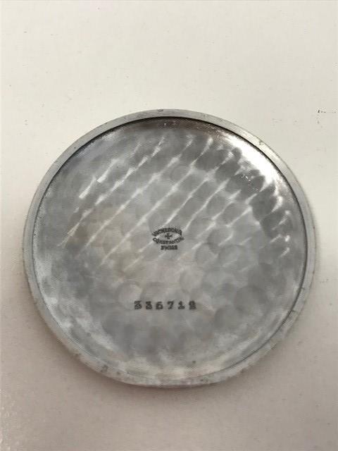 Vacheron & Constantin. A rare and lightweight aluminium keyless wind open face pocket watch Circa 1950