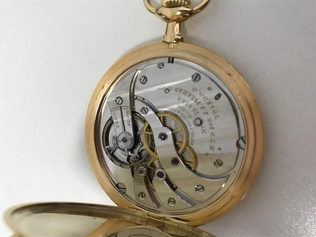 Patek Philippe. An 18K gold keyless wind open face pocket watch Manufactured 1903, sold 27th June 1904