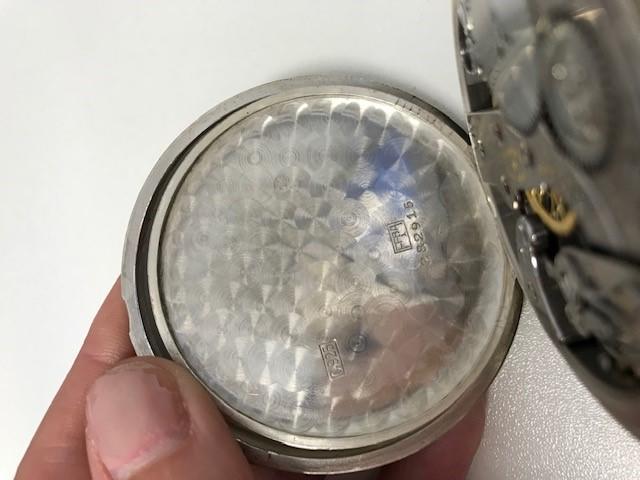Vacheron & Constantin. A silver keyless wind open face deck pocket watch Circa 1940