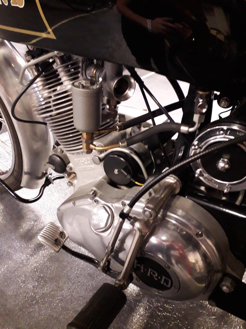 1949 Vincent-HRD 500cc Series-B Meteor Frame no. R/1/4884  Engine no. F5AB/2/2984 Crankcase mating nos. 40A / 40A