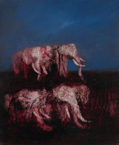 Sidney Nolan (1917-1992) African Elephants, 1963