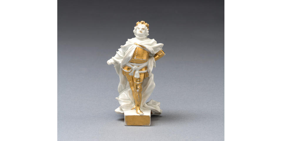 An important early Meissen figure of Augustus the Strong as Imperator, circa 1715