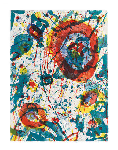 Sam Francis (American, 1923-1994) Untitled  Lithograph in colours, 1986, on Rives BFK wove paper, signed and inscribed CTP in pencil, one of five unique colour trial proofs aside from the edition of 45, published by The Litho Shop Inc., Santa Monica, California Sheet 763 x 568mm. (30 x 22 3/8in.)