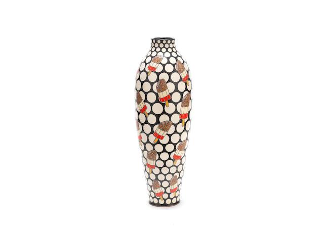 Kitty Shepherd (British, 1960-) 'Iconic FAB Lolly': A Slipware Vase, executed 2019