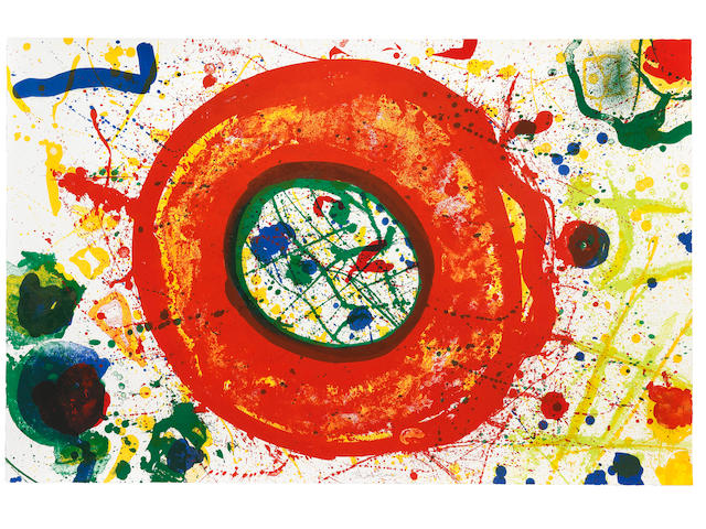 Sam Francis (American, 1923-1994) Untitled  Lithograph in colours, 1992, on waterleaf wove paper, signed and numbered 27/50 in pencil, published by The Litho Shop Inc., Santa Monica, California Sheet 762 x 1181mm. (30 x 46 1/2in.)