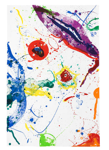 Sam Francis (American, 1923-1994) Untitled  Lithograph in colours, 1988, on waterleaf wove paper, signed and numbered 9/48 in pencil, published by The Litho Shop Inc., Santa Monica, California Sheet 1130 x 750mm. (44 1/2 x 29 1/2in.)