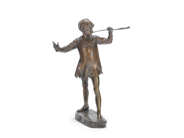 Sir George Frampton (British, 1860-1928)  a Trial Study of Peter Pan, model conceived 1912