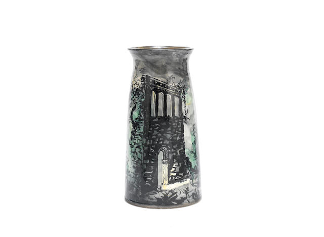 John Piper (British 1903-1992) for Fulham pottery 'Elgin Chapter House': A Vase, Executed 1982