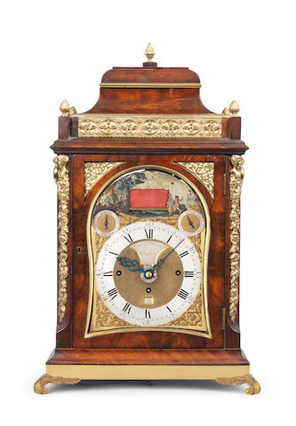 A Late 18th century mahogany quarter repeating musical table clock with 8 bells and alarm Eardley Norton, London, No.1808 3