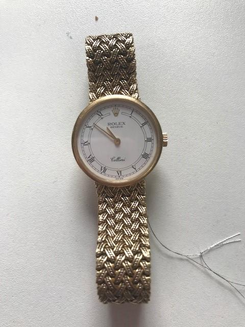 Rolex. A lady's 18K gold manual wind bracelet watch  Cellini, Ref: 4378, Circa 2000