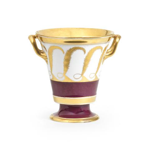 A Vienna two-handled flared beaker Circa 1808