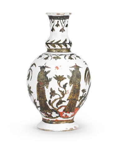 A Dorotheenthal faience vase Circa 1720