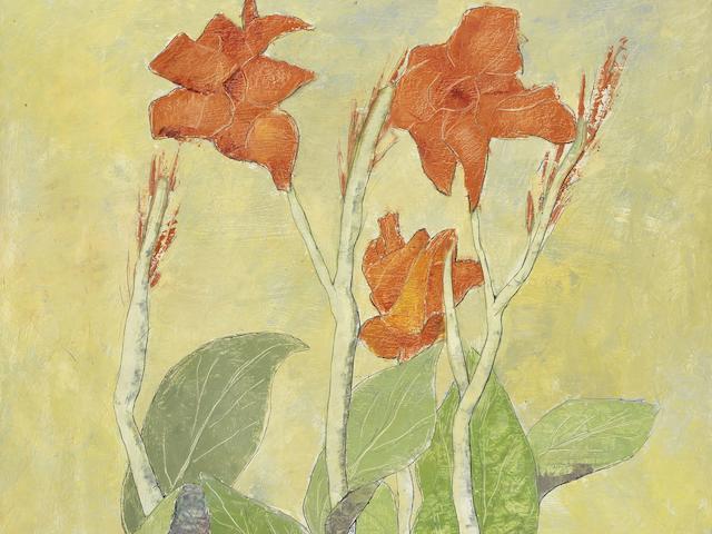 Louay Kayyali (Syria, 1934-1978) Flowers