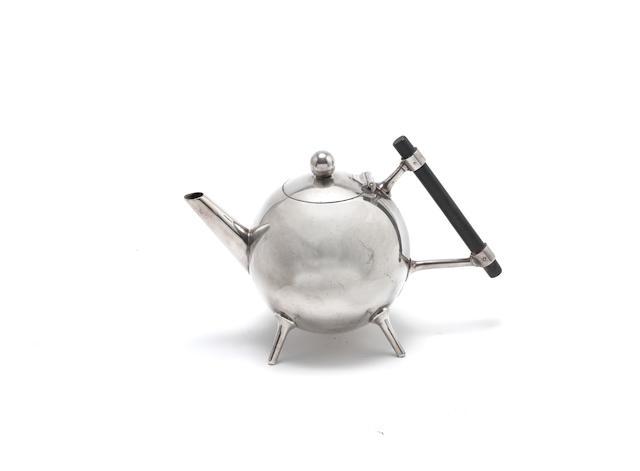 Dr. Christopher Dresser (British, 1834-1904) for James Dixon and Sons A Globular-Shaped Teapot, circa 1880