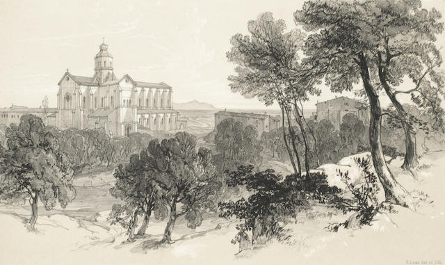 LEAR (EDWARD) Illustrated Excursions in Italy, 2 vol. [First-Second series], Thomas M'Lean, 1846