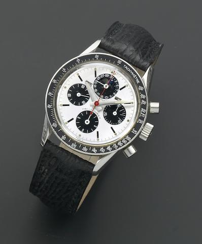 Universal Geneve. A stainless steel manual wind perpetual calendar chronograph wristwatch with moon phase  Tri-Compax, Ref: 881101/01, Circa 1965