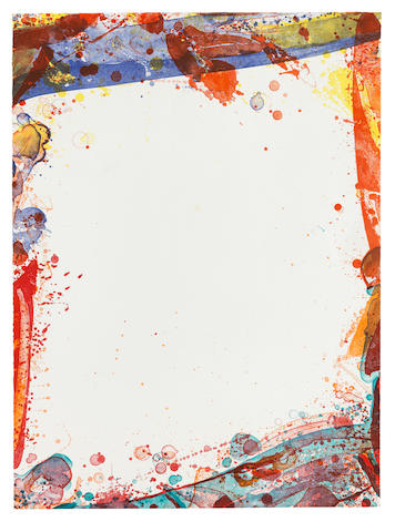 Sam Francis (American, 1923-1994) Veiled Sail  Lithograph in colours, 1969, on Rives BFK wove paper, signed and inscribed 'colour trial proof IA' in pencil, one of ten unique colour trial proofs aside from the edition of 20, published by Tamarind Lithography Workshop, Los AngelesSheet 767 x 561mm. (30 1/4 x 22 1/8in.)