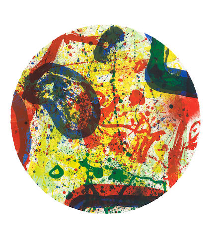 Sam Francis (American, 1923-1994) Untitled  Lithograph in colours, 1993, on wove paper, signed and inscribed AP in pencil, an artist's proof aside from the edition of 50, published by The Litho Shop Inc., Santa Monica, California Sheet 590mm. (23 1/4in.) (diameter)