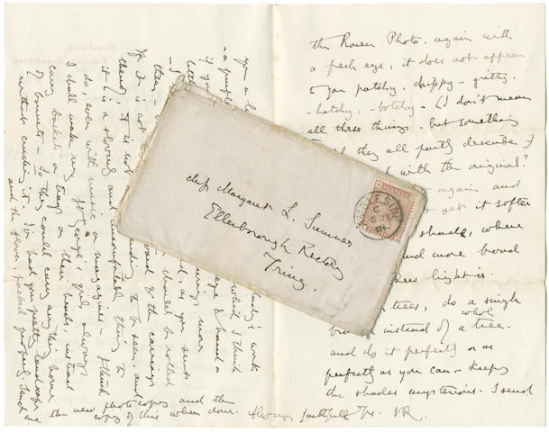 RUSKIN AND THE SUMNER FAMILY OF GRASMERE Collection of correspondence and papers relating to the family and descendants of John Bird Sumner, Archbishop of Canterbury, c.1800-1920