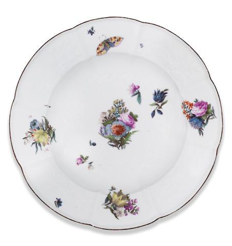 A Meissen deep plate Circa 1745-50