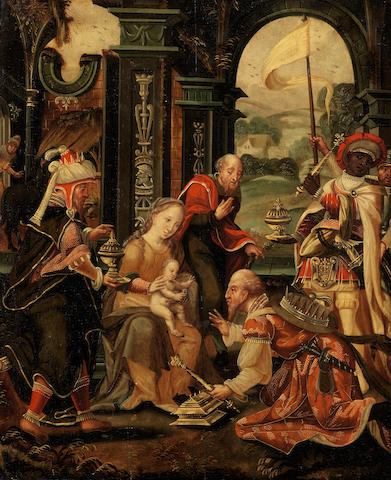 Circle of Pieter Coecke van Aelst (Aelst 1502-1550 Brussels) The Adoration of the Magi
