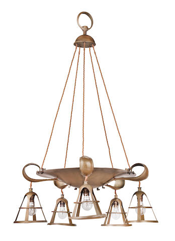 Birmingham Guild of Handicraft (British, active 1890 until circa 1950), In the Style of A Chandelier, circa 1905