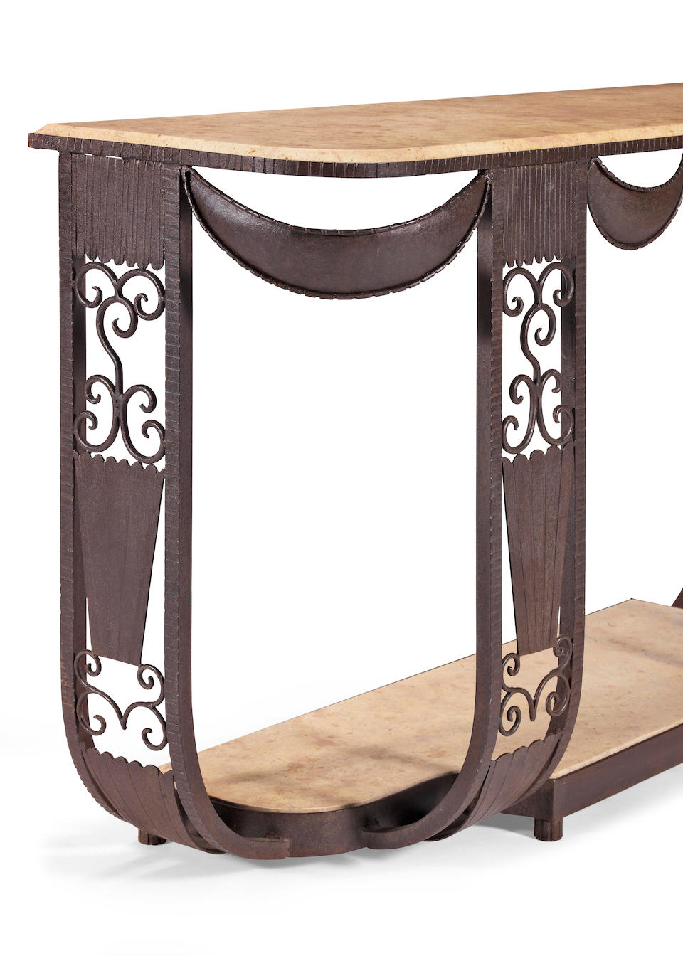 Edgar Brandt (French, 1880-1960), In the Style of Console Table, circa 1930