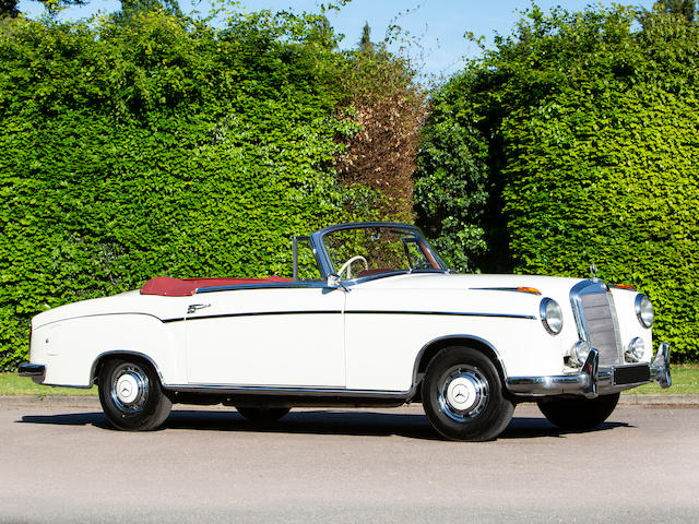 1957 Mercedes-Benz 220 S 'Ponton' Cabriolet  Chassis no. 180.030N-75-09774