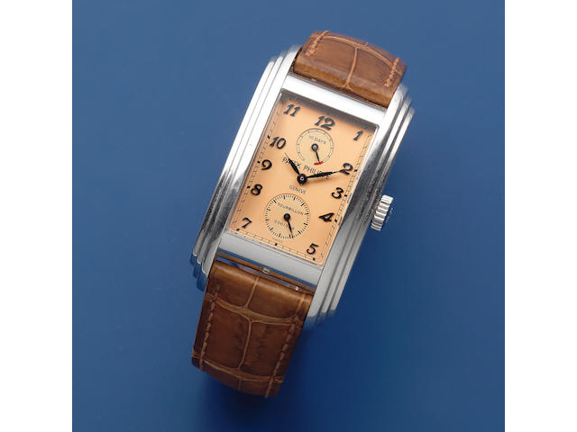 Patek Philippe. A fine platinum rectangular manual wind 10-day tourbillon wristwatch  10-Day Tourbillon, Ref: 5101P, Sold 13th November 2007