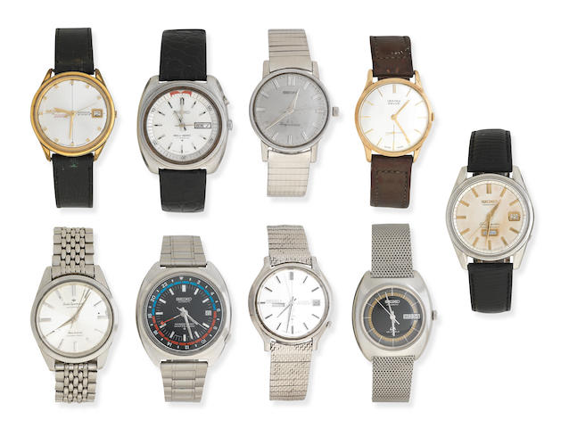 A Group of various Seiko and other wrist watches (11)