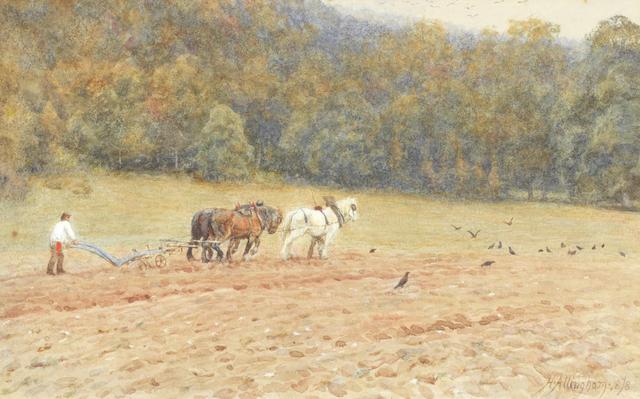 Helen Allingham, RWS (British, 1848-1926) The plough team
