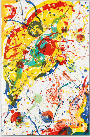 Sam Francis (American, 1923-1994) Untitled  Lithograph in colours, 1989, on waterleaf wove paper, signed and numbered 46/50 in pencil, published by The Litho Shop Inc., Santa Monica, CaliforniaSheet 1145 x 738mm. (45 1/8 x 29in.)