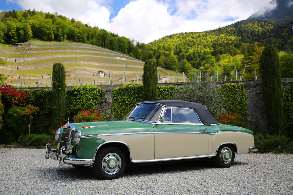 First owned by Princess Ashraf Pahlavi of Iran,1959  Mercedes-Benz  220 S 'Ponton' Cabriolet  Chassis no. 180030109509259